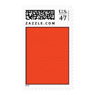 Bright Orange and Red Mini Polka Dots Pattern Stamp