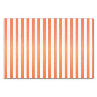 Bright Orange and White Stripes Tissue Paper