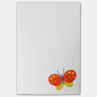 Bright Orange and Yellow Butterfly Post-it® Notes