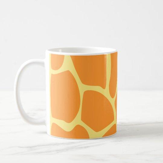 Bright Orange and Yellow Giraffe Print Pattern. Coffee Mug
