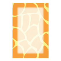 Bright Orange and Yellow Giraffe Print Pattern. Stationery