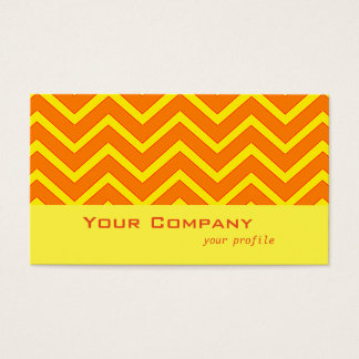 bright orange and yellow zigzags business card