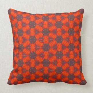 Bright Orange Anther FIlament Throw Pillow