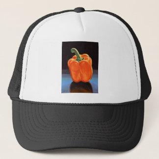 Bright Orange Bell Pepper Trucker Hat