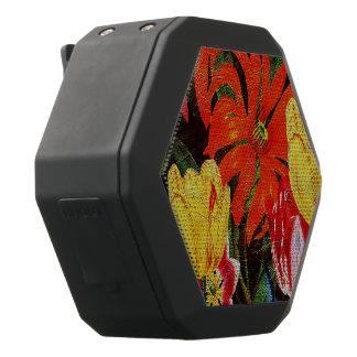 Bright Orange Botanical Vintage Oil Painting Black Bluetooth Speaker