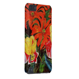 Bright Orange Botanical Vintage Oil Painting iPod Touch 5G Cases