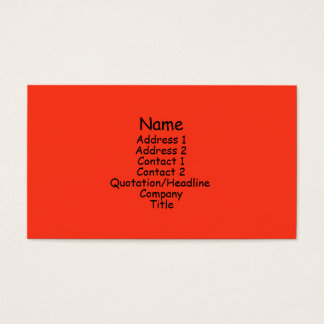 bright orange business card