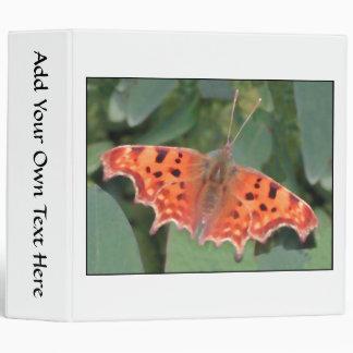 Bright orange butterfly. Comma. Binder