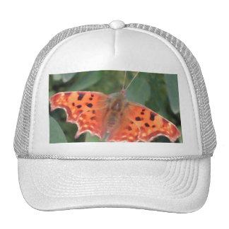 Bright orange butterfly. Comma. Trucker Hat