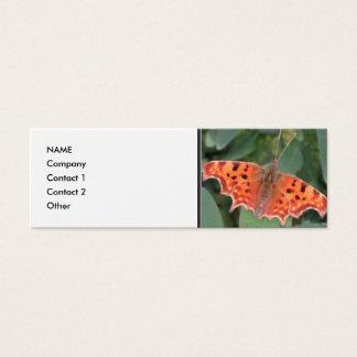 Bright orange butterfly. Comma. Mini Business Card