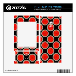 Bright orange circles on black HTC touch pro skins