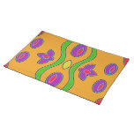 Bright Orange Colorful Funky Abstract Placemat
