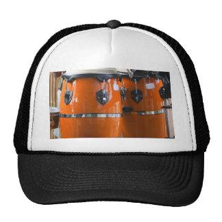 Bright orange conga drums photo trucker hat