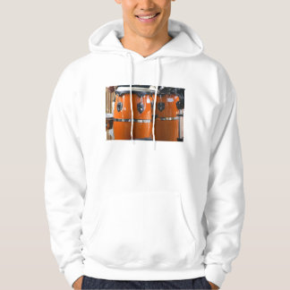 Bright orange conga drums photo hoody
