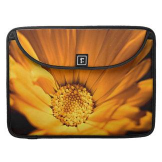 Bright Orange Daisy Wilflower Sleeve For MacBook Pro