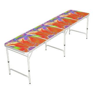Bright Orange Design Beer Pong Table