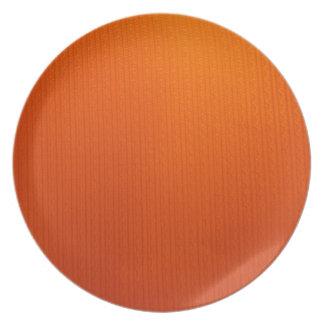 bright orange dinnerware plate