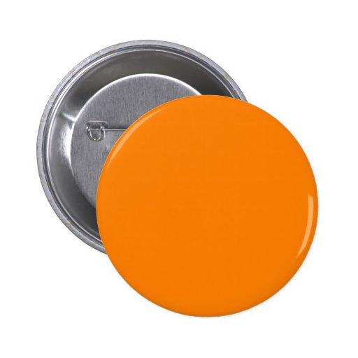 bright orange DIY custom background template 2 Inch Round Button