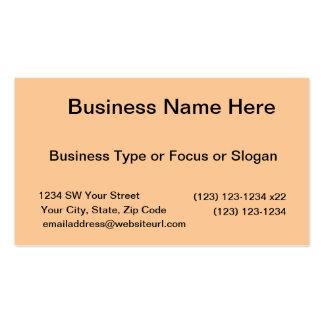 bright orange DIY custom background template Business Card