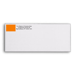 bright orange DIY custom background template Envelope