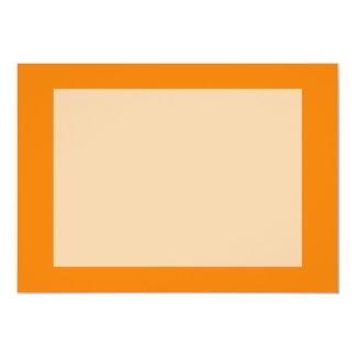 bright orange DIY custom background template 5x7 Paper Invitation Card