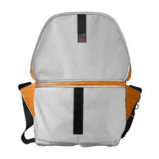 bright orange DIY custom background template Messenger Bag