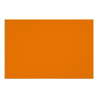 bright orange DIY custom background template Poster