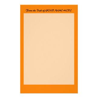 bright orange DIY custom background template Stationery
