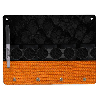 Bright Orange Fabric Black Snake Texture Dry Erase Boards