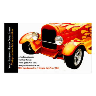 Bright Orange Flames Restored Vintage Auto Double-Sided Standard Business Cards (Pack Of 100)