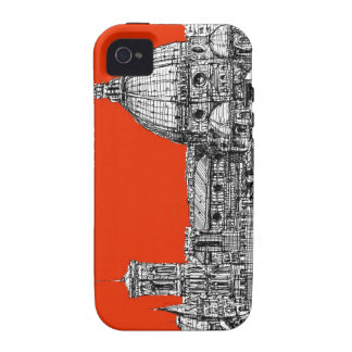 Bright orange Florence iPhone 4 Cases