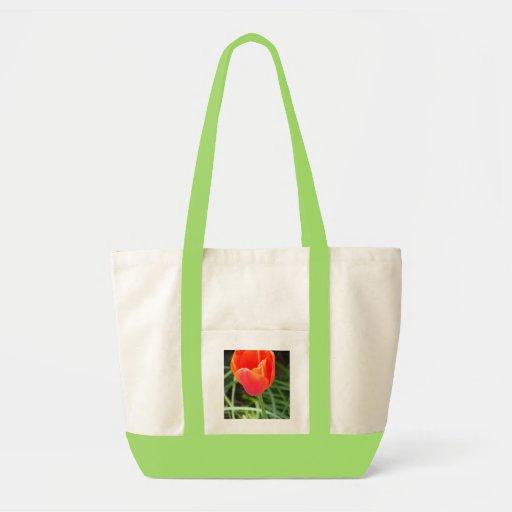 Bright Orange Flower Bag