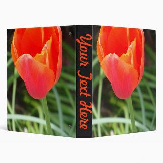 Bright Orange Flower Binder