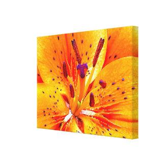 Bright Orange Flower Canvas Print