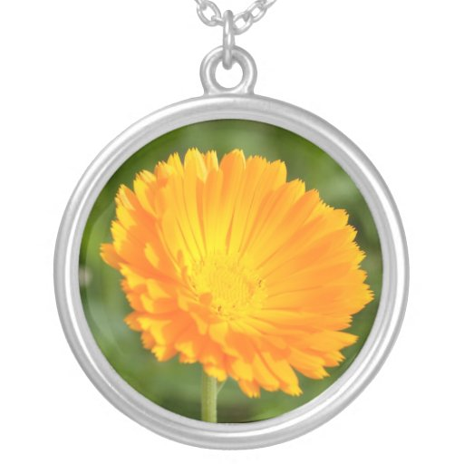 bright orange flower pendant