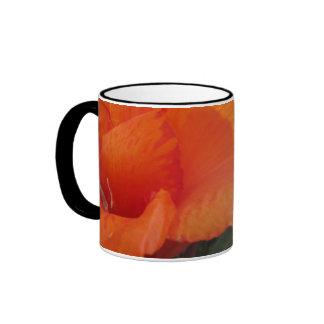 Bright Orange Flower Ringer Mug