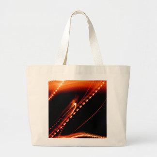 Bright Orange Fun Large Tote Bag