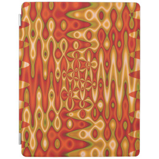 Bright Orange Gold Abstract iPad Cover