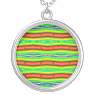 bright orange green pendants