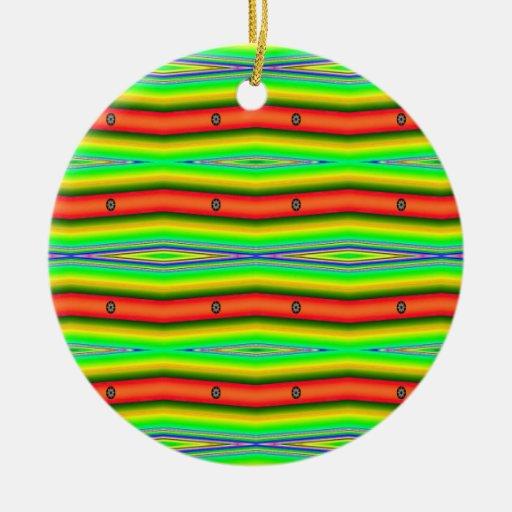 bright orange green ornaments
