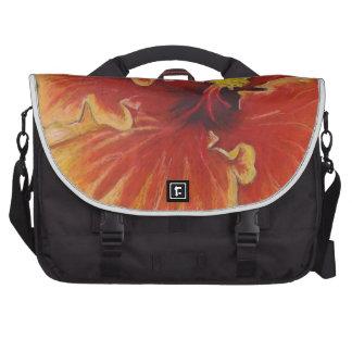 Bright Orange Hibiscus Computer Bag