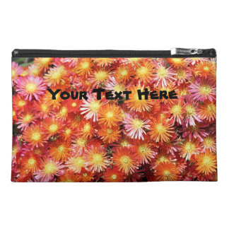 Bright Orange Ice Plant flowers Travel Accessory Bag