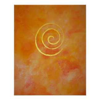 Bright Orange Infinity Golden Spiral Philip Bowman Posters