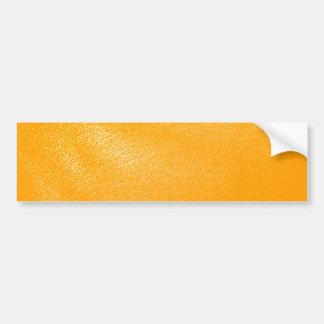 Bright Orange Leather Look Bumper Stickers