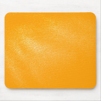 Bright Orange Leather Look Mouse Pad