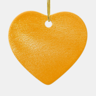 Bright Orange Leather Look Christmas Ornaments