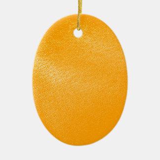 Bright Orange Leather Look Ornament
