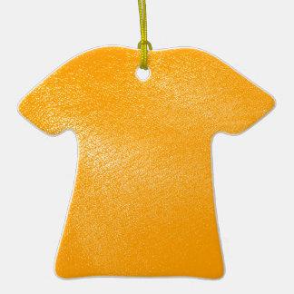 Bright Orange Leather Look Ornaments