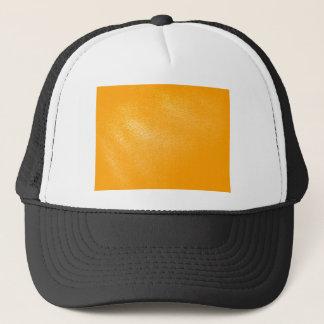 Bright Orange Leather Look Trucker Hat