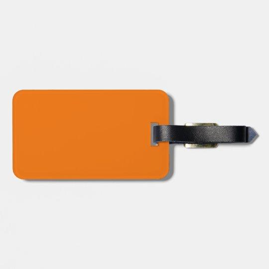 Bright Orange Luggage Tag
